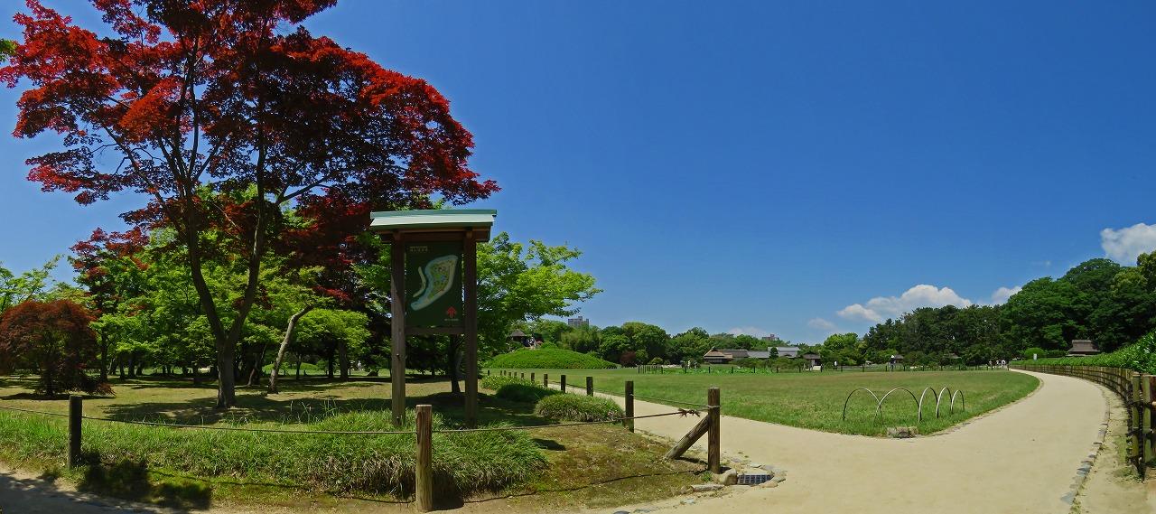s-20150521 後楽園今日の園内新殿付近からの眺めワイド風景 (1)