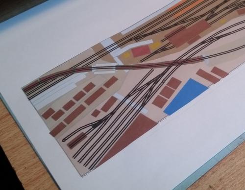 鉄道模型 立体図面 貨物ヤード