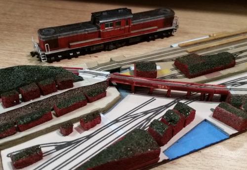 鉄道模型 立体図面 貨物ヤード2