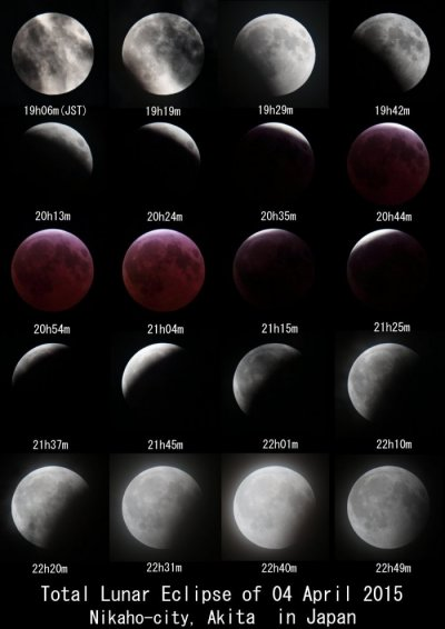 Total Lunar Eclipse of 04 April 2015