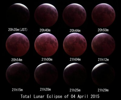 Total Lunar Eclipse of 04 April 2015(90%~Total)