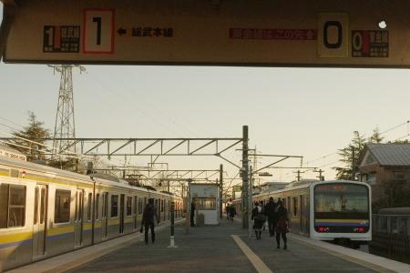 成東駅 209系
