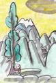 4西教寺比良山遠望