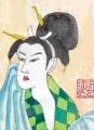 3汗を拭く女1798喜多川歌麿