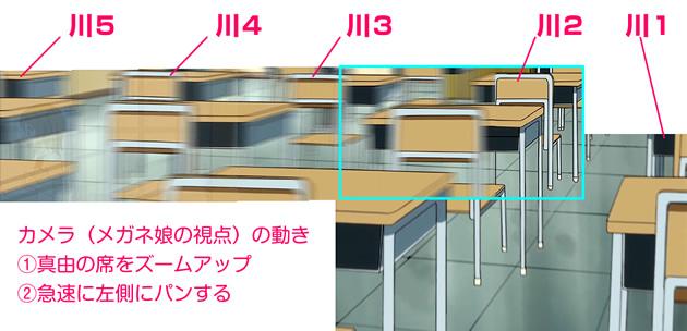 OVA『森田さんは無口』の席順(机の並び方)