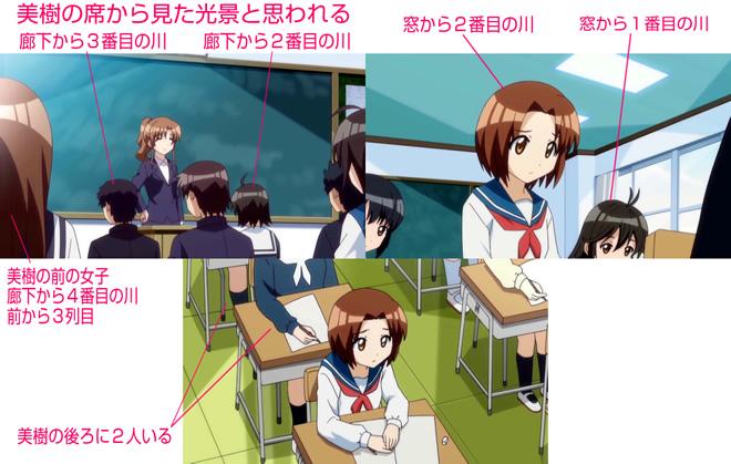 TVアニメ『森田さんは無口。2』の席順(高校受験のとき)(村越美樹)