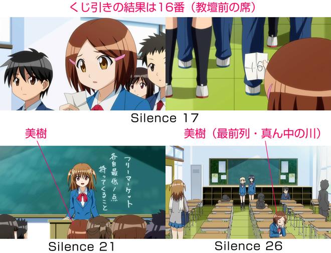 TVアニメ『森田さんは無口。2』の席順(席替え後)(村越美樹)