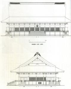 江戸末期紫宸殿立面図
