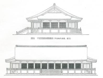 平安京の紫宸殿立面図