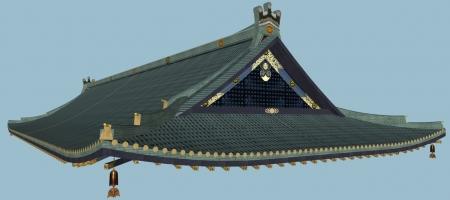 天鏡閣屋根斜め