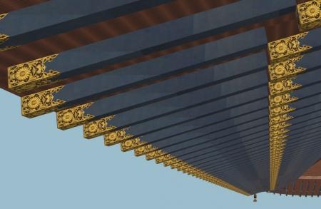 天鏡閣屋根垂木