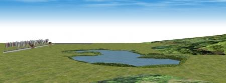 北から響湖池