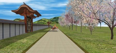 桜の馬場と義満