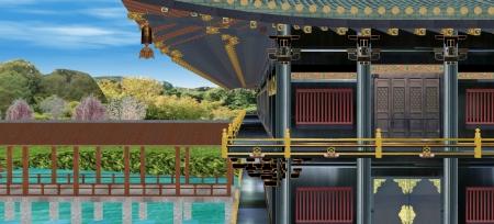 天鏡閣と釣殿渡り廊