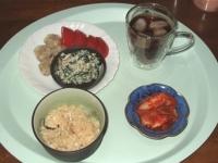 6/3 昼食  シュウマイ、トマト、ホウレンソウの白和え、鯛めし
