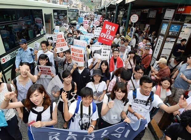 20150622京都学生デモ2200人