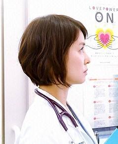 医師たちの恋愛事情 石田ゆり子さんのショートカット