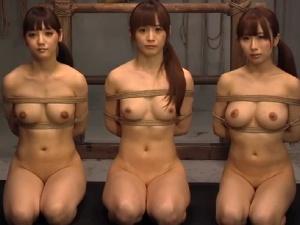 美人3人緊縛吊るし上げアナル陵辱 [樹花凜(七咲楓花) みづなれい 美咲結衣]アダルト