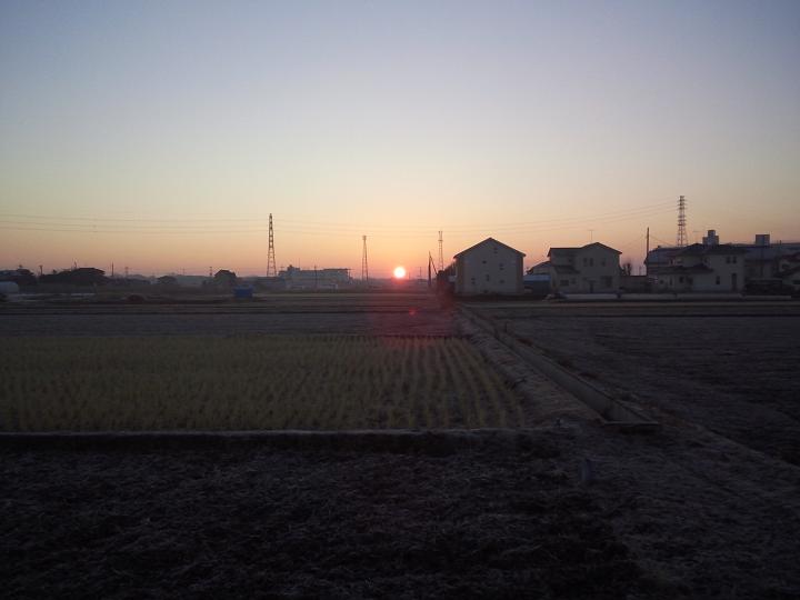 日の出だー