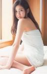 SKE48 北川綾巴 セクシー ナイトウェア ベッドの上 女の子座り 女子高生アイドル 誘惑 高画質エロかわいい画像5