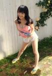 AKB48 向井地美音 セクシー タンクトップ 巨乳おっぱいの谷間 ショートパンツ 太もも オフショット 挑発ポーズ 高画質エロかわいい画像8689