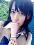 AKB48 佐々木優佳里 セクシー アイス舐め 自撮り 顔アップ 制服 誘惑 高画質エロかわいい画像8862