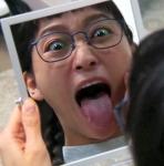 杏 セクシー 舌出し 口開け 変顔 地上波キャプチャー メガネ 顔アップ 高画質エロかわいい画像8903