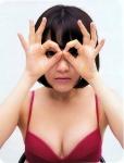 HKT48 宮脇咲良 セクシー 下着のようなビキニ水着 顔アップ OKサイン おっぱいの谷間 女子高生アイドル 高画質エロかわいい画像8971