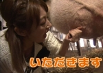 熊田曜子 セクシー 牛の乳搾り 口開け 握り 胸チラ 地上波キャプチャー 高画質エロかわいい画像8979