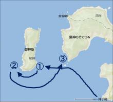 20140920 漕行程の図