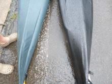 20140809 バウ側ですが雨の中