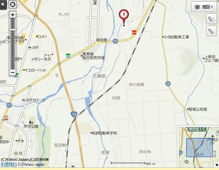 上新田地図Yahoo