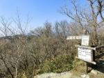 裏登山道の標識