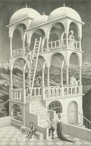 エッシャー「物見の塔」