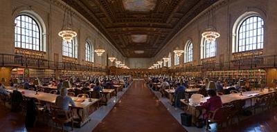 ニューヨーク公共図書館閲覧室