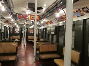 地下鉄博物館にある少し前の地下鉄車両