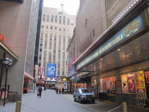 ミンスコフ劇場の入り口付近