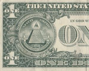 1ドル紙幣の裏面