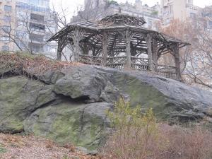 セントラルパークにある岩山