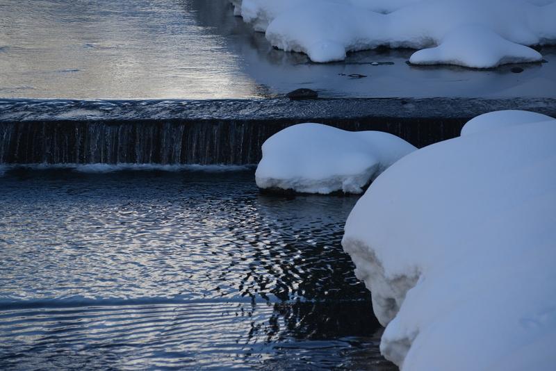 冬の水無川-2