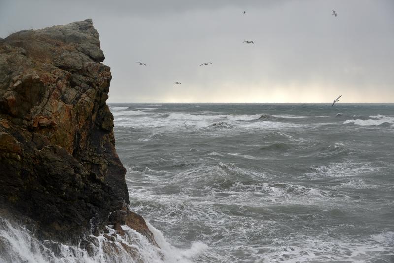 荒れる海-1