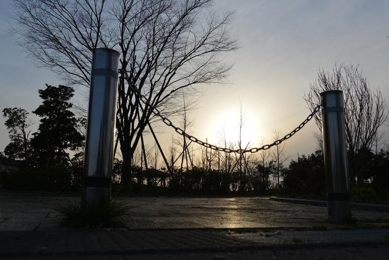 夕暮れ時の公園-3