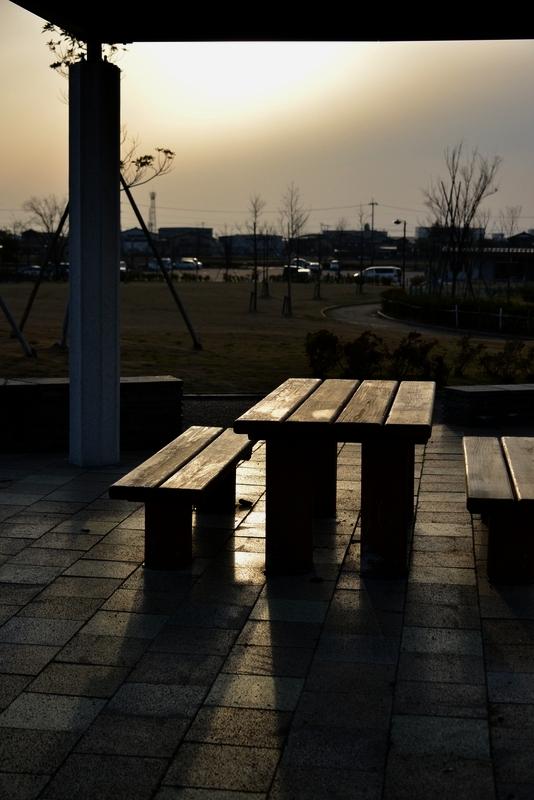 夕暮れ時の公園-4