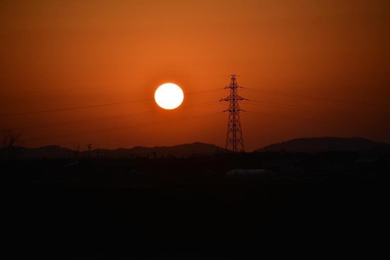 日が沈む-2