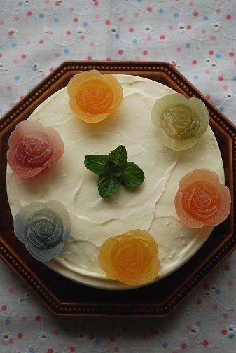 お花レアチーズ②
