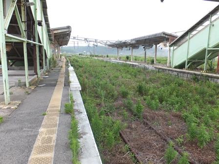富岡駅の線路s