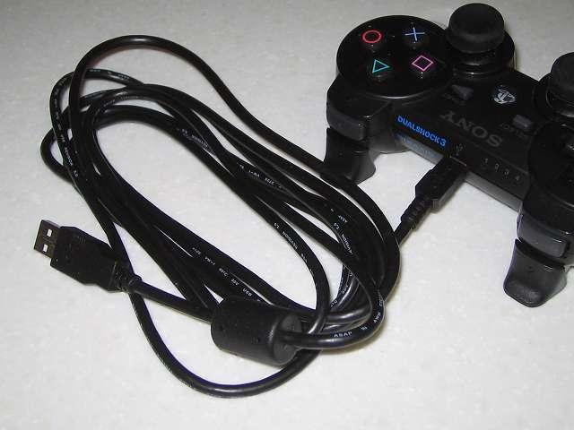 ソニー純正品 USBケーブル 2.8m (型番 : CECH-ZUC1) DUALSHOCK3 コントローラーに接続