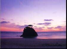 稲佐浜の夕景