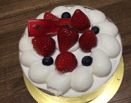 イチゴのまんまるケーキ