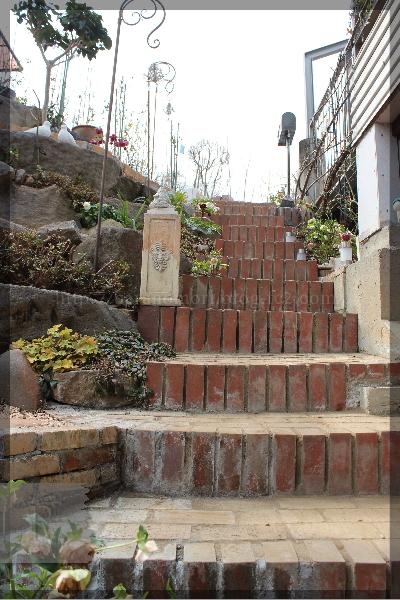 庭づくり 階段 20150314